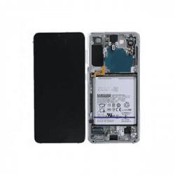Samsung Galaxy S21+ 5G SM-G996B LCD Screen Silver + Battery Service Pack