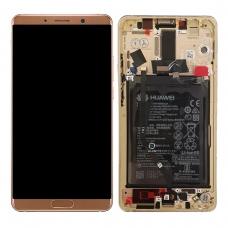 Pantalla completa con marco y batería para Huawei Mate 10 marrón original Service Pack