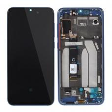 Pantalla completa con marco para Xiaomi Mi 9 SE azul