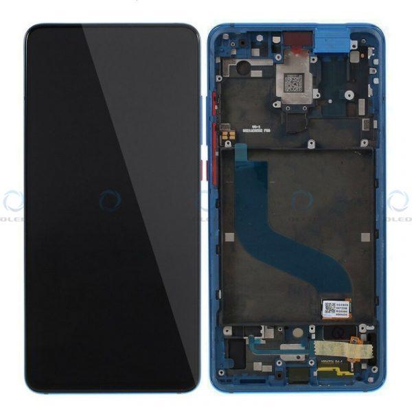 Pantalla completa con marco para Xiaomi Mi 9T/Mi 9T Pro/Redmi K20 azul original