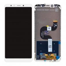 Pantalla completa con marco para Xiaomi Mi A2/Mi 6X blanca original