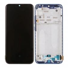 Pantalla completa con marco para Xiaomi Mi A3/Mi CC9e azul original nueva