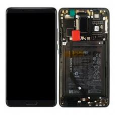 Pantalla completa con marco y batería para Huawei Mate 10 negra original Service Pack