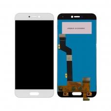 Pantalla completa para Xiaomi Mi 5c blanca cobophone
