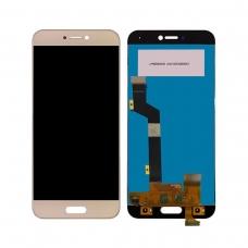 Pantalla completa para Xiaomi Mi 5c dorada cobophone