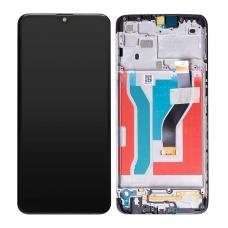 Pantalla completa con marco para Samsung A10S A107F negra original