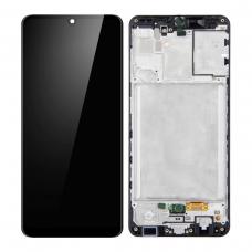 Pantalla completa con marco para Samsung A31 A315 negra original