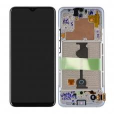 Pantalla completa con marco para Samsung A90 5G A908 plata original