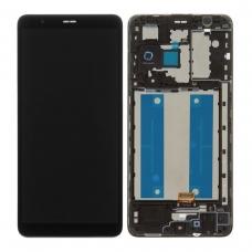 Pantalla completa con marco para Samsung Galaxy A01 Core A013F negra original
