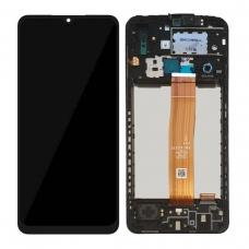 Pantalla completa con marco para Samsung Galaxy A02 A022 negra original