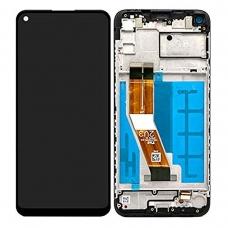 Pantalla completa con marco para Samsung Galaxy A11 A115 negra original