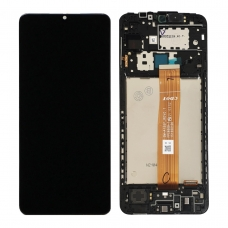 Pantalla completa con marco para Samsung Galaxy A12 A125 negra original