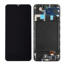 Pantalla completa con marco para Samsung Galaxy A20 A205F negra original