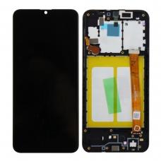 Pantalla completa con marco para Samsung Galaxy A20E A202 negra original
