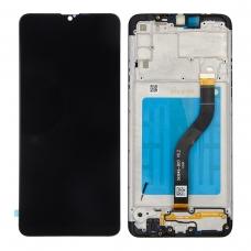 Pantalla completa con marco para Samsung Galaxy A20S A207F negra original