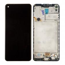 Pantalla completa con marco para Samsung Galaxy A21S A217 negra original