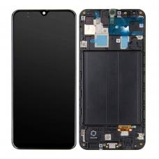 Pantalla completa con marco para Samsung Galaxy A30 A305 negra original