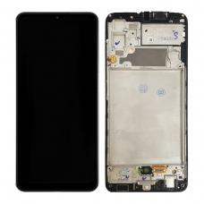 Pantalla completa con marco para Samsung Galaxy A32 4G A325F negra