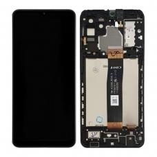 Pantalla completa con marco para Samsung Galaxy A32 5G A326 negra original Versión CDOT