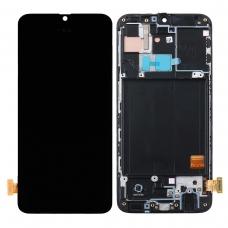 Pantalla completa con marco para Samsung Galaxy A40 A405 negra original
