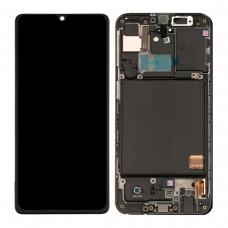 Pantalla completa con marco para Samsung Galaxy A41 A415F negra original