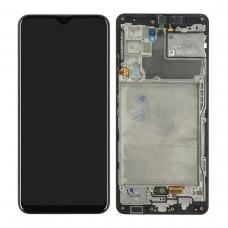 Pantalla completa con marco para Samsung Galaxy A42 5G A426B negra original