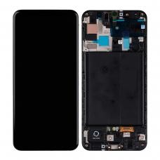 Pantalla completa con marco para Samsung Galaxy A50 A505 negra original