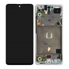 Pantalla completa con marco para Samsung Galaxy A51 5G SM-A516 blanca original