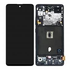 Pantalla completa con marco para Samsung Galaxy A51 5G SM-A516 negra original