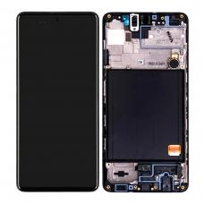 Pantalla completa con marco para Samsung Galaxy A51 SM-A515 negra original