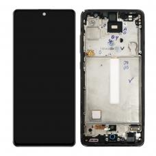 Pantalla completa con marco para Samsung Galaxy A52 A525F A52 5G A526B negra original