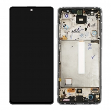 Pantalla completa con marco para Samsung Galaxy A52 A525F/A52 5G A526B plata original