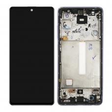 Pantalla completa con marco para Samsung Galaxy A52 A525F A52 5G A526B violeta original