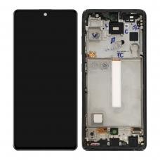 Pantalla completa con marco para Samsung Galaxy A52s 5G A528 negra original