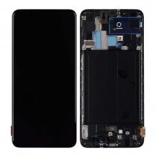 Pantalla completa con marco para Samsung Galaxy A70 A705 negra original