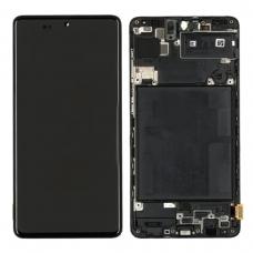 Pantalla completa con marco para Samsung Galaxy A71 A715 negra original