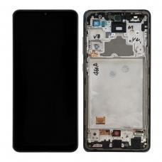 Pantalla completa con marco para Samsung Galaxy A72 A725F negra original