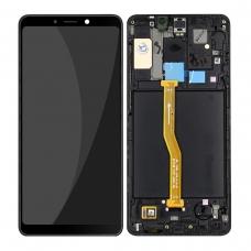Pantalla completa con marco para Samsung Galaxy A9 2018 A920 negra original