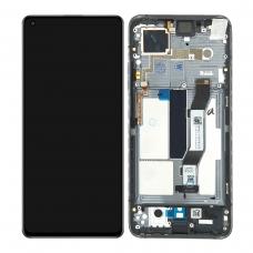 Pantalla completa con marco para Xiaomi Mi 10T 5G negra original nueva