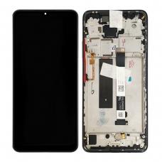 Pantalla completa con marco para Xiaomi Mi 10T Lite tarnish/pearl gray original