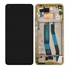 Pantalla completa con marco para Xiaomi Mi 11 Lite 5G amarilla original nueva