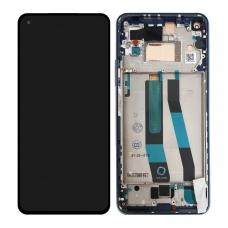 Pantalla completa con marco para Xiaomi Mi 11 Lite azul original nueva