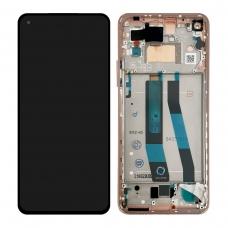 Pantalla completa con marco para Xiaomi Mi 11 Lite rosa original nueva