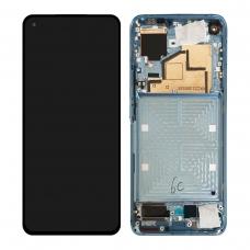 Pantalla completa con marco para Xiaomi Mi 11 azul original nueva