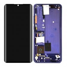 Pantalla completa con marco para Xiaomi Mi Note 10/Note 10 lite/Note 10 Pro/Mi CC9 Pro morado/bluish violet original nueva