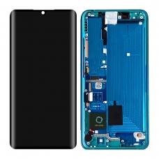 Pantalla completa con marco para Xiaomi Mi Note 10/Note 10 lite/Note 10 Pro/Mi CC9 Pro verde original nueva
