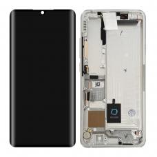 Pantalla completa con marco para Xiaomi Mi Note 10 blanca original nueva