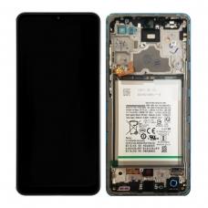 Pantalla completa con marco y batería para Samsung Galaxy A72 A725F azul original