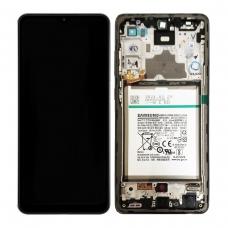 Pantalla completa con marco y batería para Samsung Galaxy A72 A725F negra original..