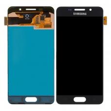 Pantalla completa para Samsung Galaxy A3 2016 A310 negra original